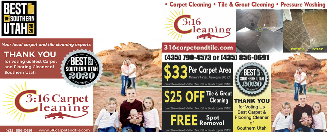 3:16 Carpet Cleaning Service Inc is a Carpet Cleaning Service in St George, UT
